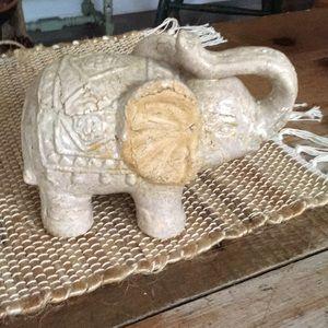 Adorable Stone Elephant